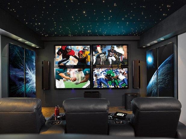 Contemporary Home Theater by Magnolia Design Center