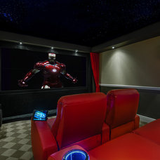 Contemporary Home Theater by Michael Laurenzano Photography