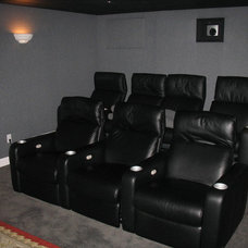 Traditional Home Theater by Michelle Jacoby, Changing Spaces