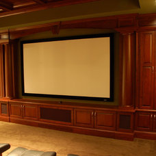 Traditional Home Theater by Millennium Cabinetry