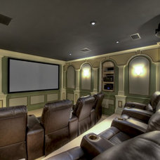 Traditional Home Theater by Moss Building and Design