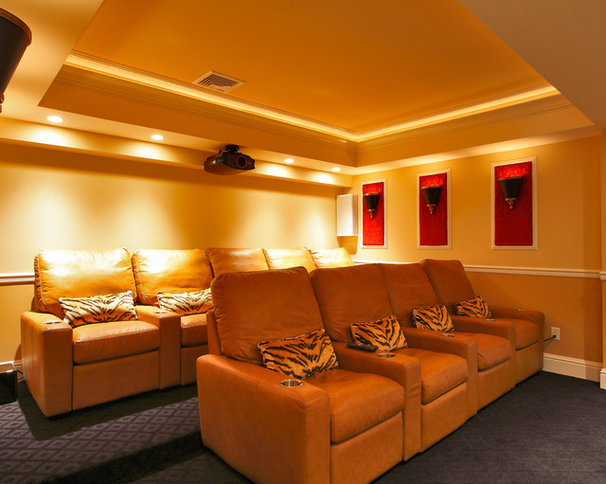 Traditional Home Theater by Olga Adler
