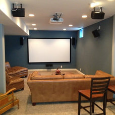 Traditional Home Theater by Complete Custom Homes
