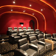 Traditional Home Theater by Rasmussen Construction