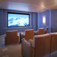 Contemporary Home Theater by Remick Associates Architects + Master Builders