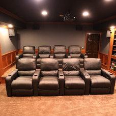 Traditional Home Theater by MHI Interiors