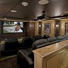 traditional media room by Schrader & Companies