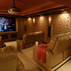 Traditional Home Theater by Steiner Design Interiors
