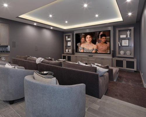 Home theater ideas design photos houzz for Homes for sale with theater room