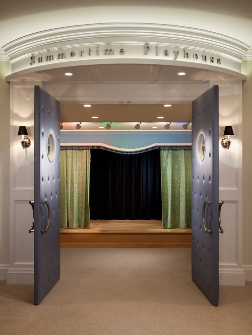 20 theatre room design ideas the home touches - Home Theater Stage Design