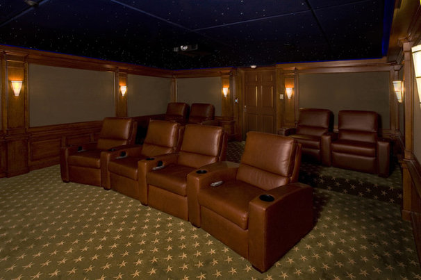 Traditional Home Theater by Fivecat Studio   Architecture