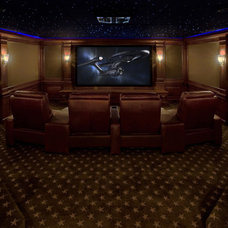 traditional home theater by Fivecat Studio | Architecture