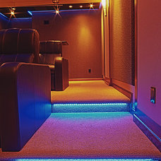Contemporary Home Theater by New Beginnings Remodeling, LLC