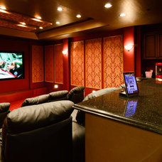Traditional Home Theater by VM Concept Interior Design Studio