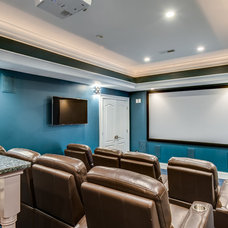 Traditional Home Theater by Carolina Classic Remodeling