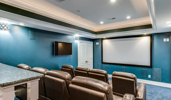 Home Theater with additional rotating TV