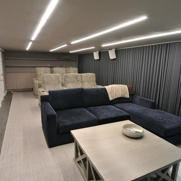 Home Theater with bar