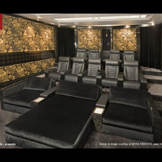 Contemporary Home Theater by Cineak Custom Home Theater Seats