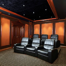 Traditional Home Theater by Monte Cristos of England