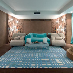 modern media room by Pampa Tiles USA