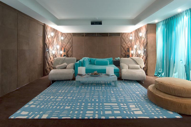 Modern Home Theater by Pampa Tiles USA
