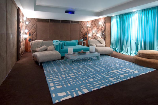 Contemporary Home Theater by Pampa Tiles USA