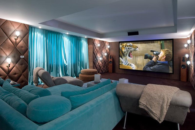 contemporary media room by Pampa Tiles USA