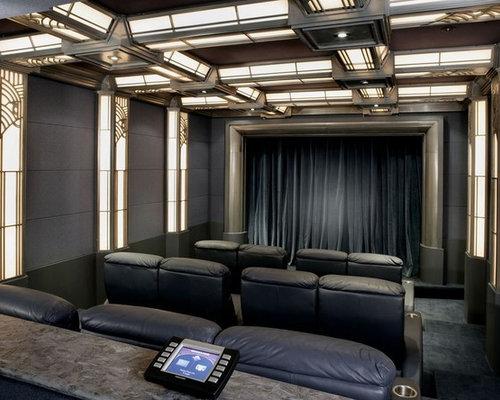 Art Deco Home art deco home theater | houzz