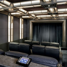 Traditional Home Theater by Roberts Home Audio and Video Inc.