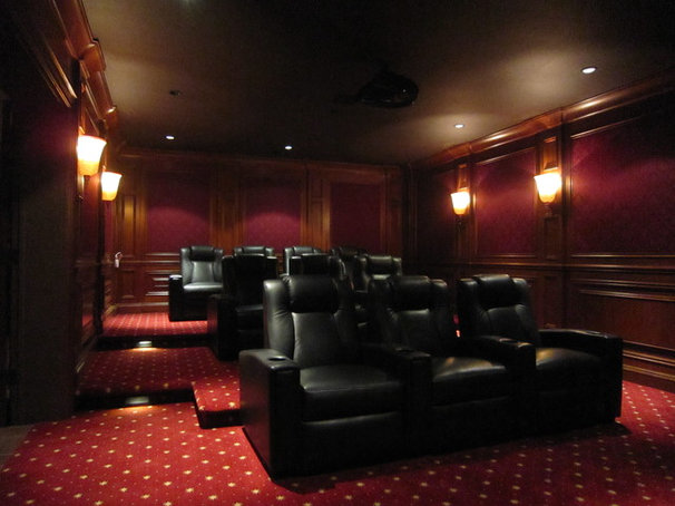 Contemporary Home Theater by John Fabian