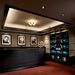 75 Beautiful Modern Home Theater Pictures & Ideas | Houzz
