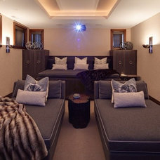Contemporary Home Theater Home Theatre