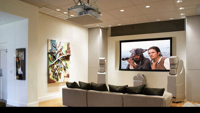 contemporary media room by Modern Home Theatre
