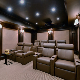 75 Small Home Theater Design Ideas - Stylish Small Home Theater ...