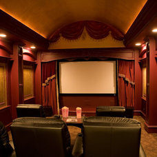 Traditional Home Theater by Hensley Premier Builders