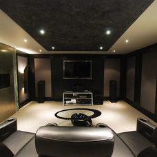 Contemporary Home Theater by MJM Consulting & Project Management Ltd.