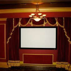 Modern Home Theater by Sallie Smith Decor and Decorating