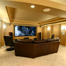 Traditional Home Theater by RS2 Architects