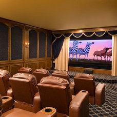 Traditional Home Theater by Hutts Realty