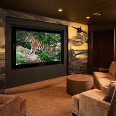 Contemporary Home Theater by Nies Homes