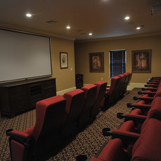 Traditional Home Theater by Causa Design Group