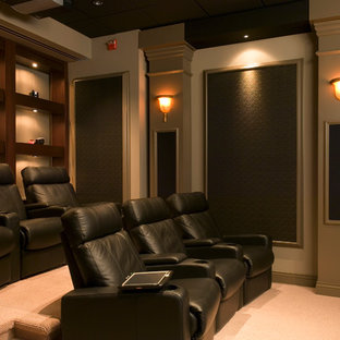 Inspiration for a contemporary home theater remodel in DC Metro