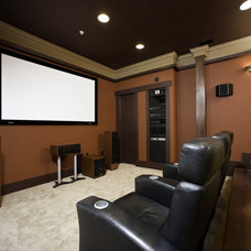 Contemporary Home Theater by Christian Gladu Design