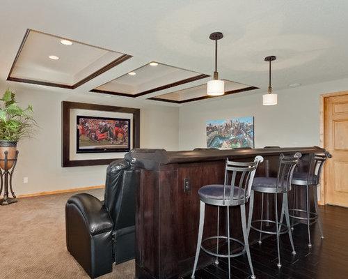 Basement Bar Behind Couch Houzz