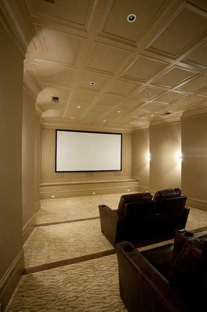 Traditional Home Theater by Insidesign