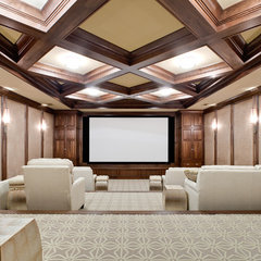 contemporary media room by Insidesign