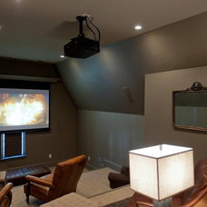Traditional Home Theater by Christopher Architects and Interiors