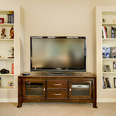 traditional media room by Integra Construction Group