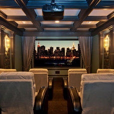 Home Theater by Masterpiece Design Group