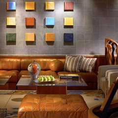 contemporary media room by Grossman Photography